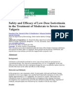 Safety and Efficacy of Low-Dose Isotretinoin in the Treatment of Moderate to Severe Acne Vulgaris