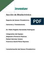 Reporte de Caracterizacion Sensor Piroelectrico