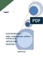 Lengua Castellana - Plan de Estudios (1)