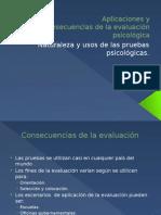 Aplicaciones y Consecuencias de La Evaluación Psicológica