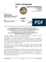 Nevada County BOS Agenda for April 28, 2015