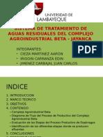 SISTEMA DE TRATAMIENTO DE AGUAS RESIDUALES DEL COMPLEJO