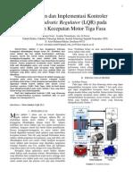Perancangan dan Implementasi Kontroler Linear Quadratic Regulator (LQR) pada Pengaturan Kecepatan Motor Tiga Fasa