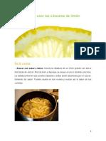 Cómo Usar Las Cáscaras de Limón
