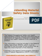 Understanding Material Safety Data Sheets August 2012
