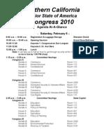 Winter Congress Agenda 2010