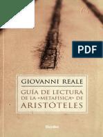 Guia de Lectura de La _Metafisi - Giovanni Reale (1)