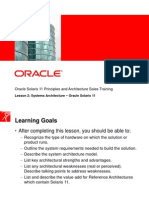 Oracle Solaris 11 Systems Architecture Final