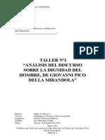 Discurso Dignidad Hombre Taller Catedra1