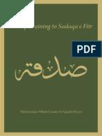 Laws of Sadqa Fitr by Muhammad Aftab Qasim Noori