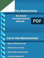 JIT Manufacturing