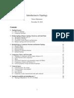 MATH 4530 – Topology Fall 2010