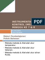 Instrumentasi Dan Kontrol (MS312) - Minggu Ke 07-08 - Rev