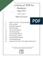 Dsv Nsw August 2014 Newsletter