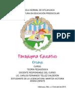 Ensayo Del Paradigma Educativo