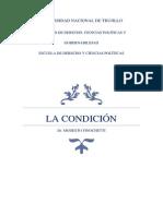 La Condición. Derecho Peruano.
