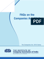 Faqs on the Companies Act 2013