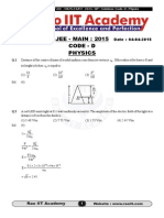 JEE Main 2015 Paper 1 SET D Solution RaoIIT