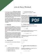 Ecuación de Darcy-Weisbach