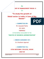 18687956 Retail Sector in India a Cabise of Big Bazaar