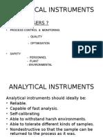 Analyser presentation