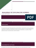 Maniobras de Exploracion Hombro Expo