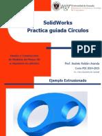 Practica Guiada de Círculos con Solidworks