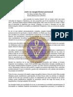Magnetismo Personal, Aumente Su - Sep81 - Clara Gonzalez Pino, s.r.c.