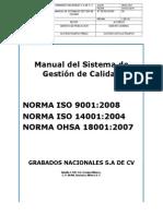 Manual Del Sistema de Gestión de Calidad 29-01-2015