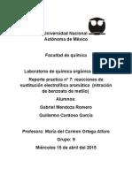Practica Nitracion Del Benzoato de Metilo