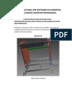 Análisis Estructural Por Software de Elementos Finitos Autodesk Inventor Professional