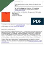 VI. After Virtue and Marxism- A Response to Wartofsky - Alasdair MacIntyre