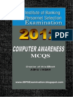 Computer Awareness MCQs Book Free Download