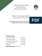 PDF Relatorio Experimento Calibração Multivariada