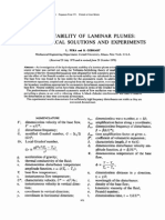 On the Stability of Laminar Plumes
