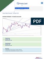 Bluemaxcapital Com Forex Daily Forecast 24 Apr 2015 for Major Pairs