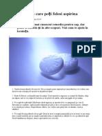 10 Moduri În Care Folosesti Aspirina