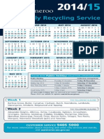 Fortnightly Recycling Calendar 2014 to 2015 (2)