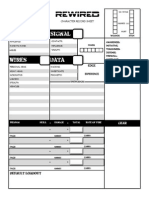 3- REWIRED Character Sheet