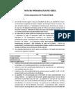 Ejercicios Productividad 01-2015
