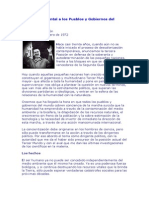 Mensaje Ambiental a Los Pueblos y Gobiernos Del Mundo por Juan Domingo Perón