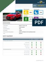 Euroncap 2015 Mazda 2 Datasheet