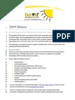 SunWiz Report-2009 Shines