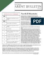 ES Parent Bulletin Vol#16 2015 Apr 24