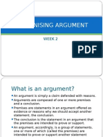 Recognising Argument