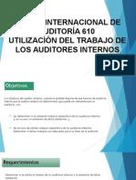 Norma Internacional de Auditoría 610