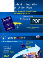 RIMUP, The Student Unity Plan.