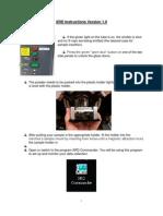 XRD Instructions