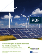 Economic grid support services by wind and solar PV