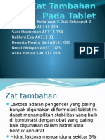 zat tambahan pada tablet